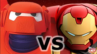 getlinkyoutube.com-Baymax vs Hulkbuster sarlacc pit arena fight Disney Infinity toy box