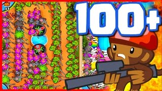 getlinkyoutube.com-Bloons TD Battles - 100+ SNIPER TOWERS! - Bloons TD Battles Strategy Late Game With Snipers!