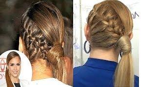 getlinkyoutube.com-Peinado inspirado en JESSICA ALBA coleta con trenza elegante y casual