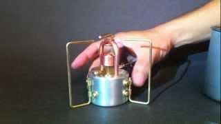 getlinkyoutube.com-DT-812 Adjustable Copper Coil Alcohol Stove