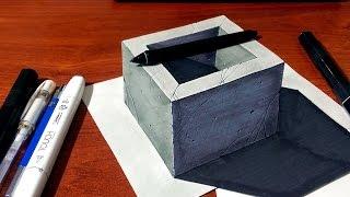 getlinkyoutube.com-3D Concrete Well / Hole - 3D Drawing