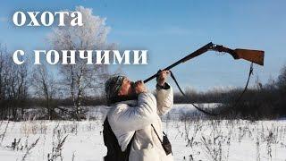 getlinkyoutube.com-Охота с гончими в сильный мороз. Hunting with Russian hounds in the bitter cold. Охота на Охоту.