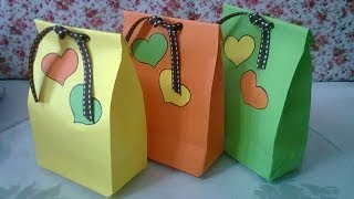 getlinkyoutube.com-DIY : #1 Cute Paper Bags For Gift ♥