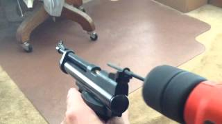 Improving Crosman 2240 Pistol Aperture Sights
