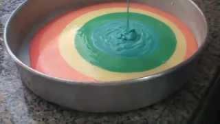 getlinkyoutube.com-Como fazer... Bolo colorido!