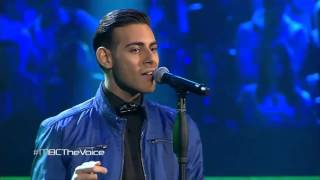 getlinkyoutube.com-#MBCTheVoice - عمر دين   - Can't Feel My Face  - مرحلة العروض المباشرة
