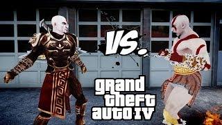 getlinkyoutube.com-KRATOS VS KRATOS (GOD ARMOR) | GOD OF WAR FIGHT | GTA IV