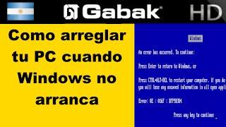 getlinkyoutube.com-Como reparar windows cuando no arranca y recuperar los datos