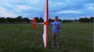 getlinkyoutube.com-The Bird of Time glider on highstart - Větroň Bird of Time zálet na gumicuku -
