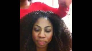"getlinkyoutube.com-Tutorial on ""How to make a full head weave look natural"": Crochet braids & Weave"