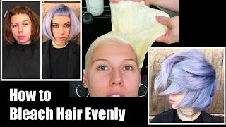getlinkyoutube.com-How to Bleach Hair Evenly