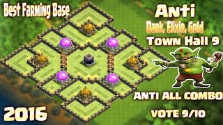 getlinkyoutube.com-Coc Th9 TOP 2 Farmig Base (Dark Elixir Gold Base) Town Hall 9 Clash of clans