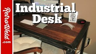 getlinkyoutube.com-🔴 Handmade Industrial Table Build