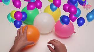 Learning Colors with Balloons Real Shoot for kids