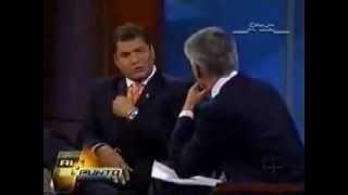 Evo Morales y Rafaél Correa, ponen en su lugar a Jorge Ramos. ¡Bien hecho!