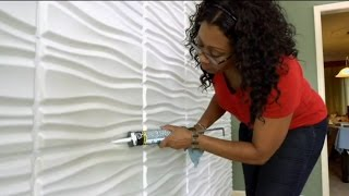 "getlinkyoutube.com-Decorative Wall Panels by WallArt as seen on DIY ""I Want That"""