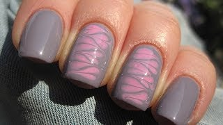 getlinkyoutube.com-Valentines hearts needle manicure - Walentynkowe serduszka robione igłą - Basevehei