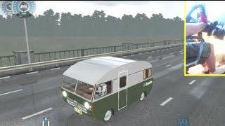 getlinkyoutube.com-City Car Driving mod - SAAB 92HK 1965 Caravan, Commentary, Logitech G27 + feet/pedals gameplay