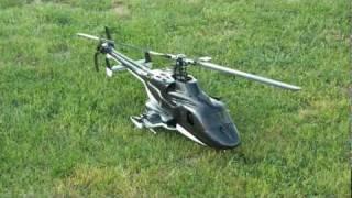getlinkyoutube.com-T-Rex 500 in Align airwolf body - Leonardo