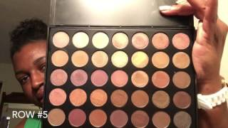 getlinkyoutube.com-Morphe Brushes 35T Palette (swatches and makeup tutorial)