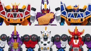 Power Rangers Dino Charge Kyoryuger and Dino Core Ultra Deverster Tyrano Dinosaurs Car Toys