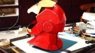 getlinkyoutube.com-#16: Iron Man Neck - Cardboard - With Zipper (pepakura template) | How To | Dali DIY