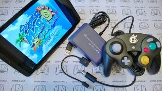 getlinkyoutube.com-NVIDIA SHIELD TABLET - Super Mario Sunshine - Dolphin emu Overclocking