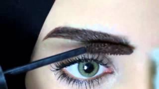 getlinkyoutube.com-My Eyebrow   Tutorial كيف ترسمي   حواجبك بتاتو كاجل ؟