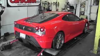 getlinkyoutube.com-Red 430 SCUDERIA FERRARI on the DYNO!