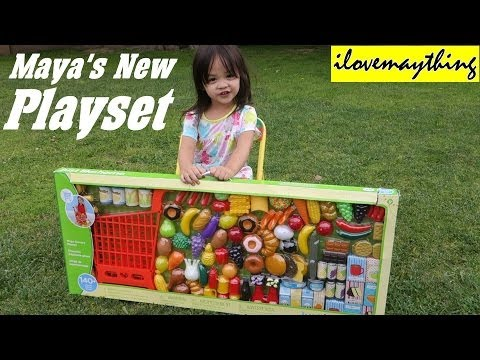 Kitchen Toy Set For Little Girls: Maya's New Grocery Shoppin