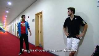 getlinkyoutube.com-09 Shanghai Djokovic & Simon Bantering about Socks
