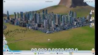 getlinkyoutube.com-SimCity 5 Huge Skyscraper City - Time Lapse