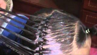 getlinkyoutube.com-Cordon chino Combinado con esterillado peinados para niña paso a paso