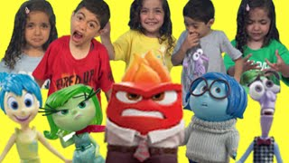 Disney Inside Out Videos Surprise Toys Disgust Joy Sadness Anger Movie Unboxing Toys