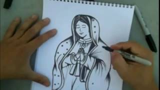 How to Draw la Virgen Maria - By - ( Marco Real)