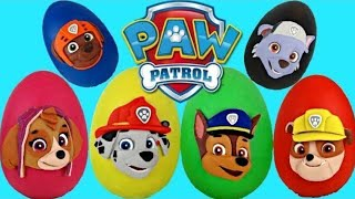 getlinkyoutube.com-PAW PATROL Nickelodeon Play Doh Surprise Eggs Toys with Chase, Marshall, Rubble // TUYC