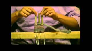 getlinkyoutube.com-How To Weave On A Peg Loom