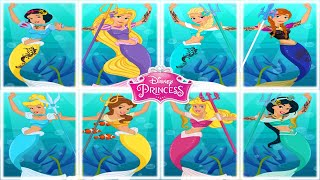 getlinkyoutube.com-💫 Disney Mermaid Princesses Dress Up Game for Girls