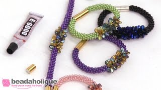 getlinkyoutube.com-How to Make the Deluxe Beaded Kumihimo Bracelet Kit with Pip Bead Focal