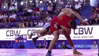 getlinkyoutube.com-Greco-Roman Wrestlers Go Big at Junior World Championships in Brazil