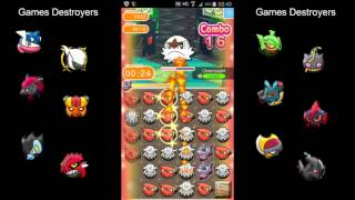 getlinkyoutube.com-Pokémon Shuffle Mobile #14 Chesnaught, Delphox, Greninja