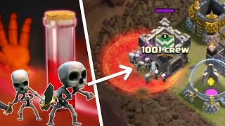 Skeleton tech | 3 Ways To Use Skel Spell Strategies For TH9 | Clash of clans