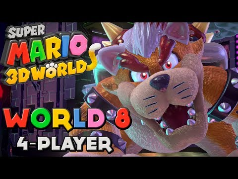 Super Mario 3d World - World 8 4-player