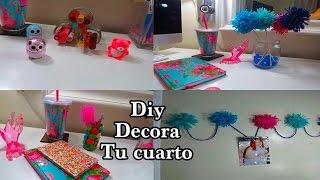 getlinkyoutube.com-DIY  4 IDEAS  DECORA TU CUARTO  reciclado