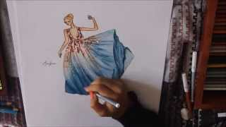 getlinkyoutube.com-Fashion Illustration : Elie Saab Autumn/Winter Couture.