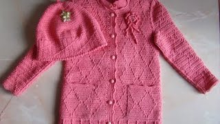 getlinkyoutube.com-VERY EASY crochet cardigan / sweater / jumper tutorial - baby and child sizes 31