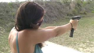 getlinkyoutube.com-Christina Firing Glock 26 9mm Pistol