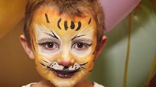 getlinkyoutube.com-Maquillaje de tigre para Carnaval