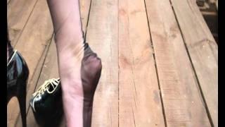 getlinkyoutube.com-black seamed nylons trampling