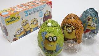 getlinkyoutube.com-Minions Surprise Eggs  ミニオンズ チョコエッグ